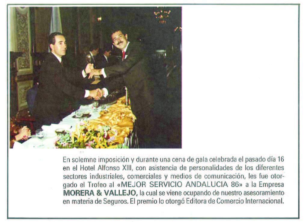 Mejor Servicio Andalucía 86